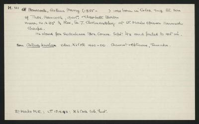 Macdonald Dictionary Record: Arthur Harry Hancock