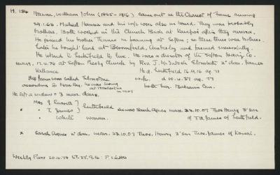 Macdonald Dictionary Record: William John Hanna