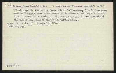 Macdonald Dictionary Record: John Nicholas Hansen