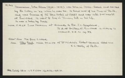Macdonald Dictionary Record: John Adam Hansmann