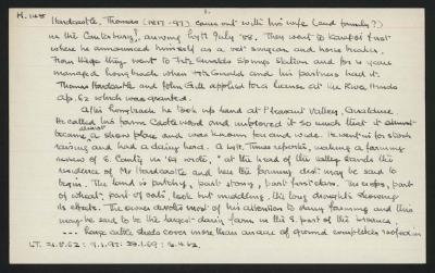 Macdonald Dictionary Record: Thomas Hardcastle