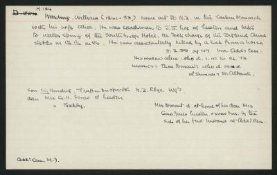 Macdonald Dictionary Record: William Harding