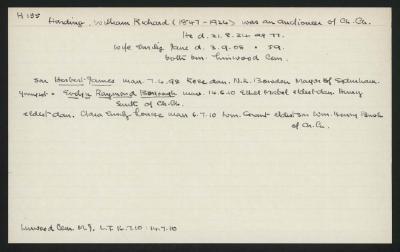 Macdonald Dictionary Record: William Richard Harding