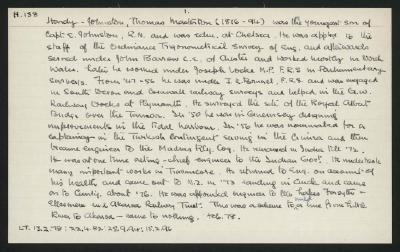 Macdonald Dictionary Record: Thomas Masterton Hardy-Johnston