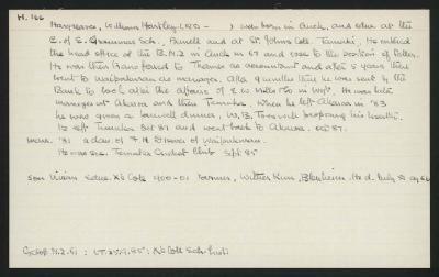 Macdonald Dictionary Record: William Hartley Hargreaves