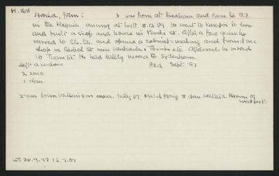 Macdonald Dictionary Record: John Harker