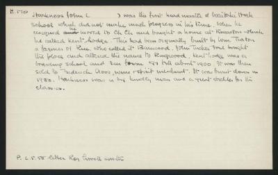 Macdonald Dictionary Record: John Harkess
