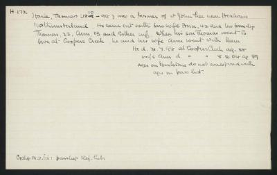 Macdonald Dictionary Record: Thomas Harle