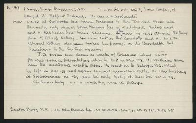 Macdonald Dictionary Record: James Davidson Harper