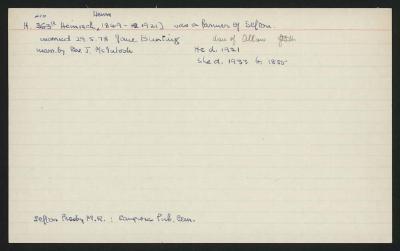 Macdonald Dictionary Record: Henry Heinisch
