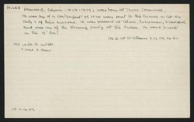 Macdonald Dictionary Record: Edwin Henwood