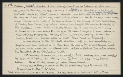 Macdonald Dictionary Record: David Gordon Holmes