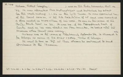 Macdonald Dictionary Record: Robert Langley Holmes; 1952-1964;