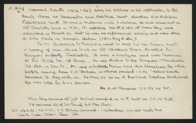 Macdonald Dictionary Record: Smith Howard; 1952-1964;