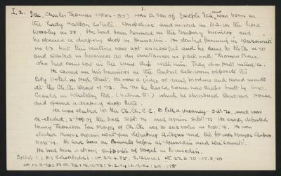 Macdonald Dictionary Record: Charles Thomas Ick; 1952-1964;