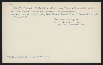 Macdonald Dictionary Record: Frederick Walter Legott