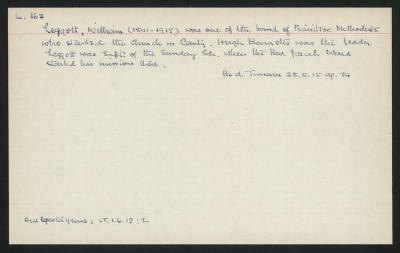 Macdonald Dictionary Record: William Legott