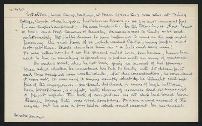 Macdonald Dictionary Record: George William Lyttelton; 1952-1964;