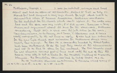 Macdonald Dictionary Record: George Mallinson; 1952-1964;