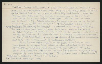 Macdonald Dictionary Record: George Lilly Mellish