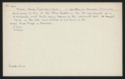 Macdonald Dictionary Record: Henry Ludwig Meyer