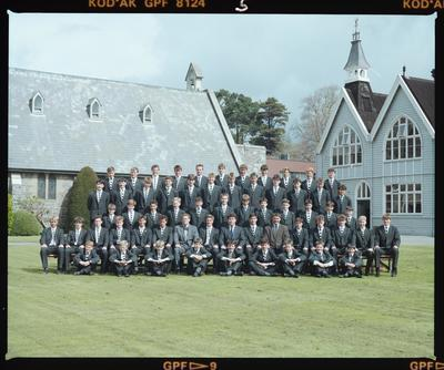 Negative: Christ's College Corfe House 1989