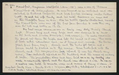Macdonald Dictionary Record: Benjamin Woolfield Mountfort; 1952-1964;