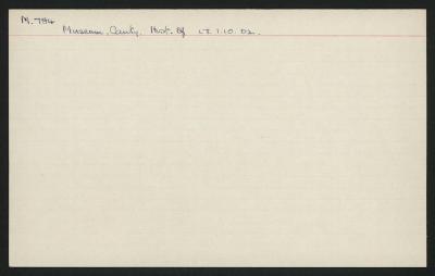 Macdonald Dictionary Record: Canterbury Museum; 1952-1964;