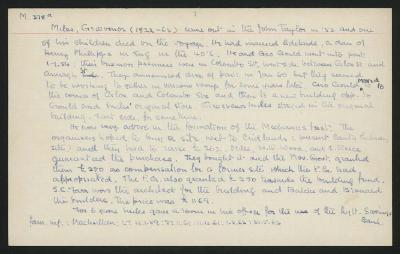 Macdonald Dictionary Record: Grosvenor Miles; 1952-1964;
