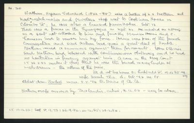 Macdonald Dictionary Record: Hyam Edward Nathan