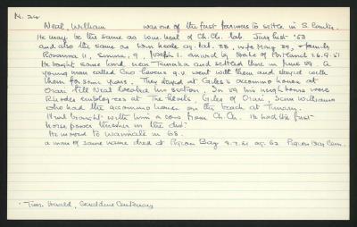 Macdonald Dictionary Record: William Neal
