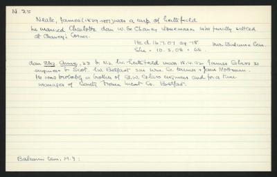 Macdonald Dictionary Record: James Neale