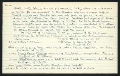 Macdonald Dictionary Record: W John Neate
