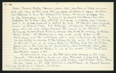 Macdonald Dictionary Record: Francis Digby Spencer Neave