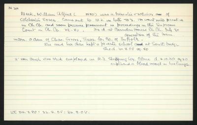 Macdonald Dictionary Record: William Alfred Neck