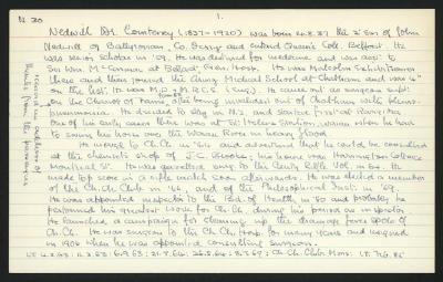 Macdonald Dictionary Record: Courtney Nedwill