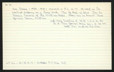 Macdonald Dictionary Record: James Nee