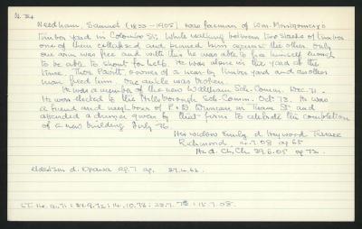 Macdonald Dictionary Record: Samuel Needham