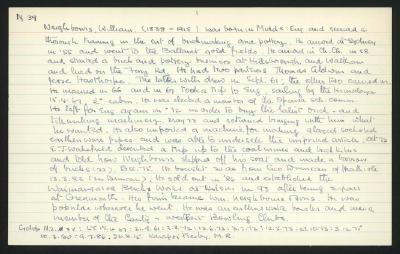 Macdonald Dictionary Record: William Neighbours