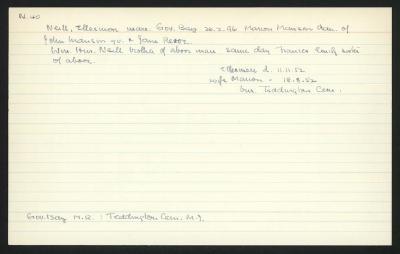 Macdonald Dictionary Record: Ellesmere Neill
