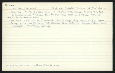 Macdonald Dictionary Record: Lauretz Neilson
