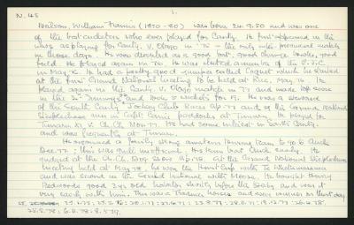 Macdonald Dictionary Record: William Francis Neilson