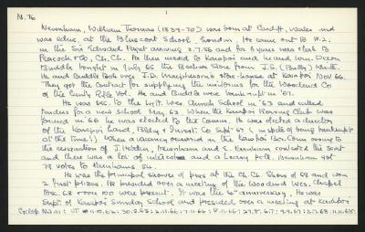 Macdonald Dictionary Record: William Thomas Newnham