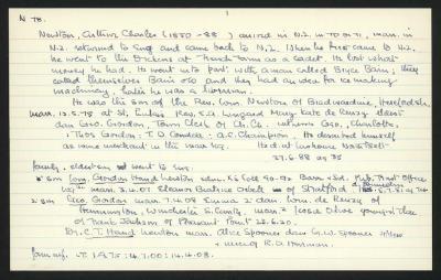 Macdonald Dictionary Record: Arthur Charles Newton