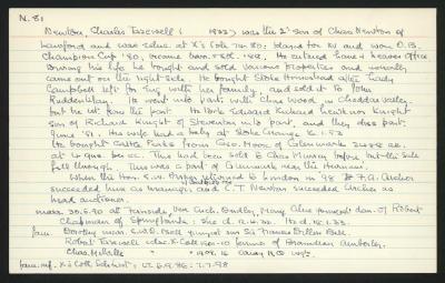 Macdonald Dictionary Record: Charles Tazewell Newton