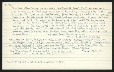 Macdonald Dictionary Record: John Henry Newton