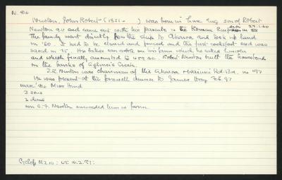 Macdonald Dictionary Record: John Robert Newton
