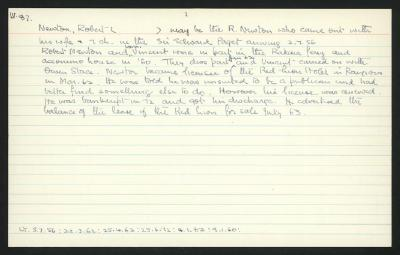 Macdonald Dictionary Record: Robert Newton