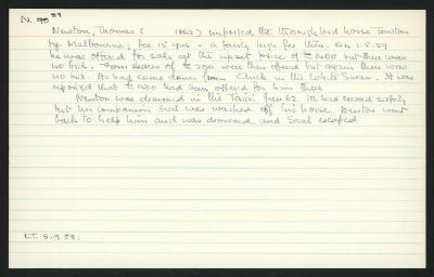 Macdonald Dictionary Record: Thomas Newton