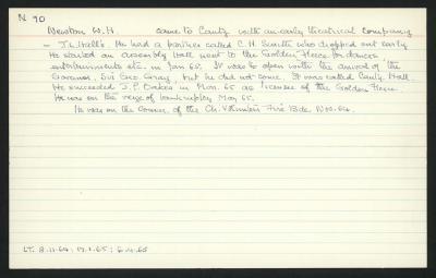 Macdonald Dictionary Record: W H Newton